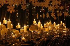 White Snowflakes, Candles, and Sparkles for a Winter Wedding - MODwedding