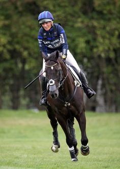 Zara Phillips competes in the Cross Country event at the Land Rover Burghley Horse Trials at Burghley House