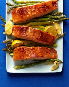 Broiled Salmon and Asparagus  #whbmfoodies