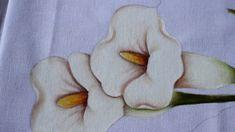 Pintura em tecido -  Copo de leite parte 2.