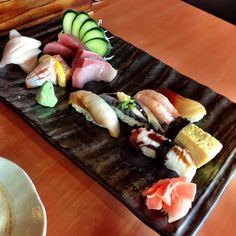 New chef's version of our sushi and sashimi combination. Visually engaging and physically delicious!