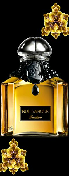 Nuit d'Amour Guerlain perfume - a fragrance for women 2006 Parfum Guerlain, Fragrance Parfum, Perfume And Cologne, Antique Perfume Bottles, Beautiful Perfume, Perfume Collection, Just For You, Color Yellow, Yellow Black