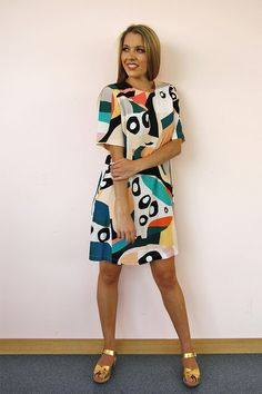 Cove Shift (mid sleeve) - Seagrass Design Dresses For Work, Summer Dresses, Australian Fashion, Crepe Dress, Different Patterns, Size 10, Sleeves, Model, Stuff To Buy