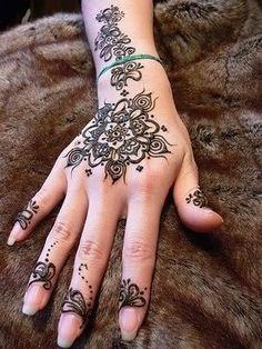 henna hand. Very pretty.