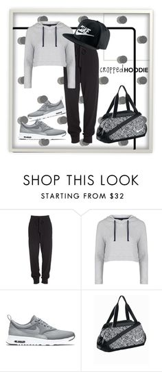 """Nike baby"" by epuran-tania ❤ liked on Polyvore featuring Donna Karan, Topshop and NIKE"