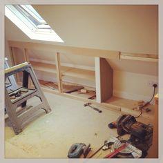 loft storage work in progress  www.fittedbespokefurniture.co.uk