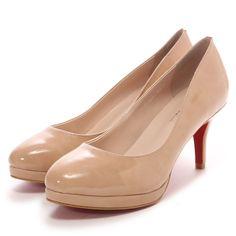 モード・エ・ジャコモ カリーノ MODE ET JACOMO carino 全天候ラウンドパンプス(ベージュエナメル)-「買ってから選ぶ。」靴とファッションの通販サイト ロコンド