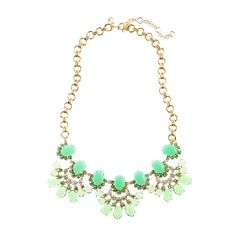 CABOCHON FAN NECKLACE from J. Crew. Such a pretty minty green.