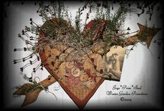 Primitive Valentine Heart, Valentine's & Romantic Crafts