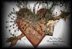 Primitive Valentine Heart, Valentine's & Romantic Crafts