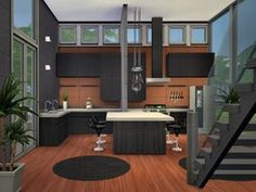 The Sims Resource: Elements residential home by Chemy house conversion house ideas house interior house interior floor plans house interior small house plans The Sims 4 Houses, Sims 3 Houses Ideas, Sims 4 Houses Layout, House Ideas, House Layouts, Sims Ideas, Sims 4 House Plans, Sims 4 House Building, Sims 2 House
