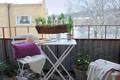 outdoor balcony Stunning And Contemporary Balconies And Loggias decorating #winter_ideas #winter_balcony