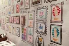Wildhorse press at the National Stationery show (via Oh So Beautiful Paper). Love these hand-drawn frames.