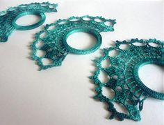 """""""Obrúčky"""" na servítky-smaragdová zelená by dielnaOMA - SAShE.sk - Handmade Úžitkový textil"""