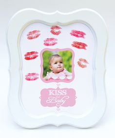 Look at this #zulilyfind! The Grandparent Gift Co. White & Pink 'Kiss the Baby' Frame by The Grandparent Gift Co. #zulilyfinds