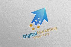 Digital Marketing Financial Logo 51 by denayunebgt on @creativemarket Marketing Logo, Digital Marketing, Financial Logo, Logos, Logo