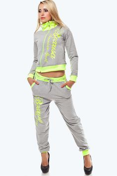 BOXUSA AMERICAN SPORT WEAR SET GREY-YELLOW