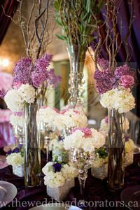 Purple flower design.
