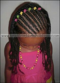 Braided Hairstyles For Kids braids for kids beads hairstyle Find This Pin And More On Hair By Msward68