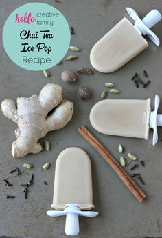 Creamy, sweet, spicy and delicious, these chai tea ice pops are perfect for a hot summer day!