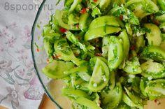 Зеленые помидоры на зиму с чесноком и острым перцем «Кобра»   8 Ложек
