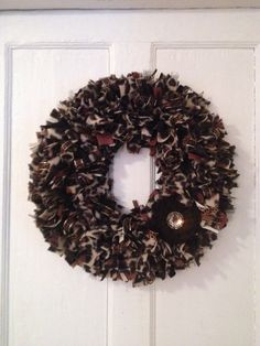 Cheetah Print Wreath Brown black gold by MOSTaDOORableWREATHS