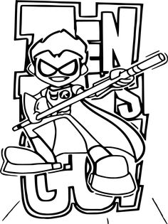 Beast Boy of the Teen Titans Go coloring page to print ...