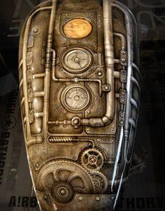 Custom Motorcycle Paint Jobs, Custom Paint Jobs, Custom Motorcycles, Airbrush Designs, Airbrush Art, Pinstriping, Tank Design, Bike Design, Custom Tanks