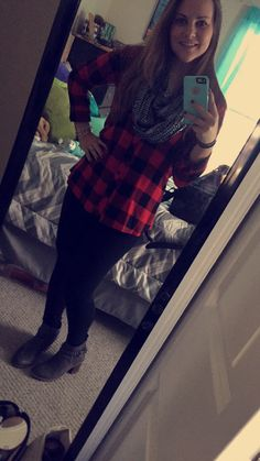 #sperry boats  #leggings #flannel  Thanksgiving day outfit
