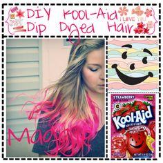 """""""DIY Kool Aid Dip-Dyed Hair"""" by seventipsterteens on Polyvore"""