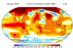 Nasa afirma que janeiro foi o mês mais quente da história (foto: Ansa)