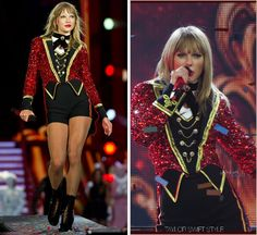 The RED Tour | We Are Never Ever Getting Back Together | [11/11] Marina Toybina Custom Ensemble And the night ends with a bang! Served by a full-out circus set up à la her MTV European Music Awards performance from back in November, the RED Tour...