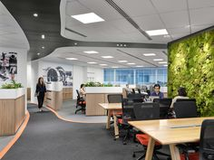 Space planning principles were used to build a future-proof office space that could accommodate change and encourage open communication, innovative thinking and collaboration Open Office, Office Spaces, Dropped Ceiling, Office Environment, Singapore, Innovation, Layout, Offices, Table