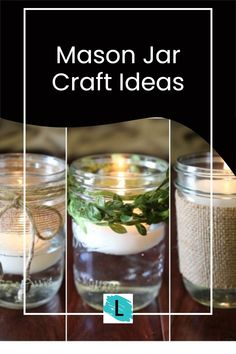 Whether it is a wedding, outdoor party or just creating a little ambience, floating candles in mason jars can turn plain candles into a rustic centerpiece. Rustic weddings continue to be a hot trend whether it is the look or the unique ways you can keep costs down. One way to keep the costs down and rev up the look is to use mason jar floating candles. Add some simple burlap, leaf ribbon or jute ribbon to personalize your centerpieces. Assisted Living Activities, Nursing Home Activities, Mason Jar Centerpieces, Rustic Centerpieces, Mason Jar Projects, Mason Jar Crafts, Adult Crafts, Diy Crafts, Chalkboard Mason Jars