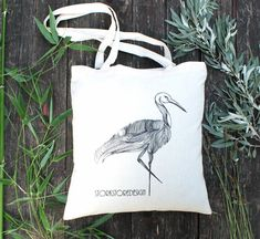 Stork Canvas Tote Bag