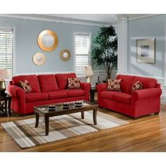 Attractive Cabot Red Sofa Love Seat Casual Living Room Furniture Set Design Ideas With  Wooden Floors Amazing Decorate Living Room Design With Red Sofa Ideas Idea