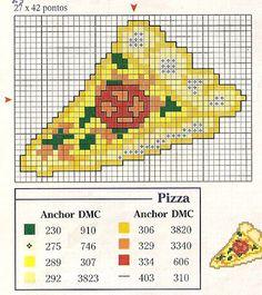 Gráficos p/ Ponto Cruz - Pizza - VilaClub