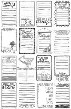 Scrapbooking TammyTags -- TT - Designer - Allison Kimball Design, TT - Item - Journal Card, TT - Theme - Autumn or Thanksgiving