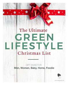 Wondering what to get for a brother, dad, mom, sister? Need some inspiration for that special someone? I've got you covered! I've rounded out my top green gift ideas in my Green Lifestyle Christmas List!