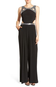Steppin Out Embellished Sleeveless Jumpsuit available at #Nordstrom