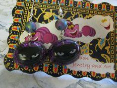 Black Cat Resin Earrings by jansbeads on Etsy, $16.50