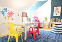 Colorful Playroom And Living Space