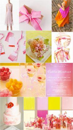 Watercolor Bridal Shower Inspiration Board