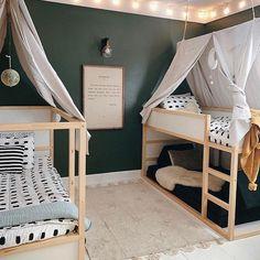Girls Bunk Beds, Kid Beds, Boys Bed Canopy, Bed Canopies, Ikea Kura Bed, Kura Bed Hack, Ikea Daybed, Ikea Kura Hack, Kids Room Design