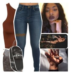 """cause how could i ever trip about it when i met you in the club"" by lamamig ❤ liked on Polyvore featuring Louis Vuitton and Givenchy"