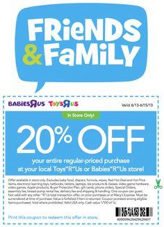 20 Off Printable Coupon For Toys R Us : printable, coupon, Savings, Ideas, Coupons,, Printable, Coupons