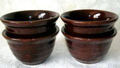 "4  Mar-crest Beehive  dessert bowls  3"" tall    Vintage   Maple Leaf Mark  USA   Pottery & Glass, Pottery & China, China & Dinnerware   eBay!"