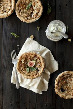 Fig Goat Cheese Pie with Basil | always with butter