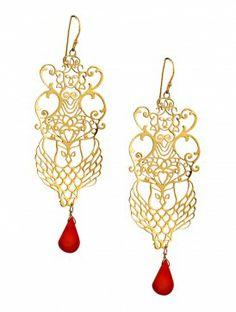 Lakshmi Gold-Plated #gold #german #silver #earrings #jaypore
