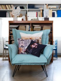 lovely color on this cozy chair